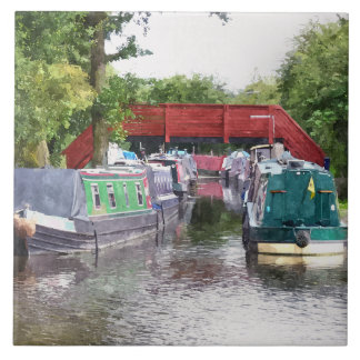 CANAL BOATS UK TILE