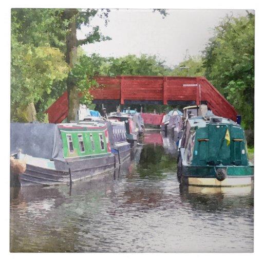 CANAL BOATS UK TILE