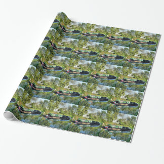 CANAL BOATS WRAPPING PAPER