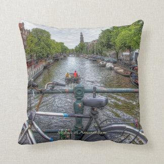 Canal Bridge View and Bike, Sights of Amsterdam Cushion