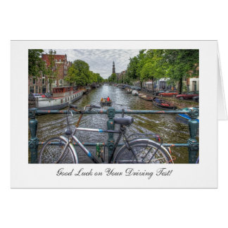 Canal Bridge View - Good Luck on Driving Test Card