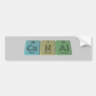 Canal-Ca-N-Al-Calcium-Nitrogen-Aluminium.png Bumper Sticker