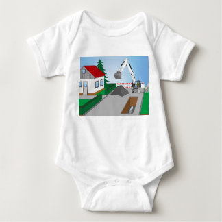 Canal construction place baby bodysuit