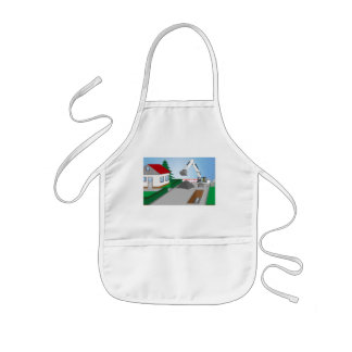 Canal construction place kids apron