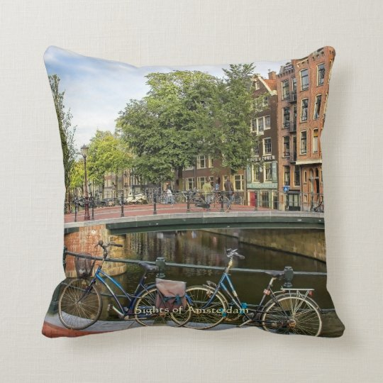 Canal Crossing and Bikes, Sights of Amsterdam Throw