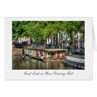 Canal Houseboat, Good Luck on Driving Test Card