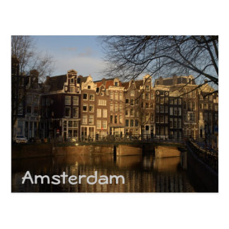 Canal houses postcard