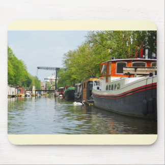 Canal in Amsterdam Mouse Mat