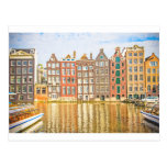 Canal in Amsterdam Postcard
