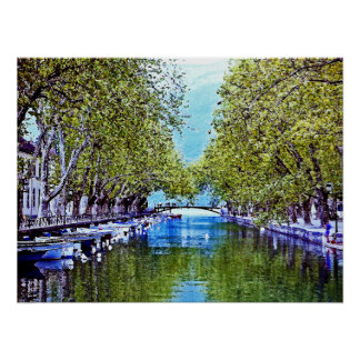 Canal in Annecy France Print