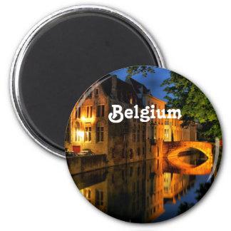 Canal in Belgium 6 Cm Round Magnet