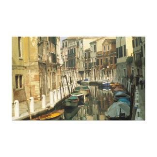 Canal in Santa Croce, Venice, Italy Canvas Print