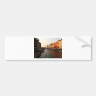 Canal in st Petersburg Russia Bumper Sticker