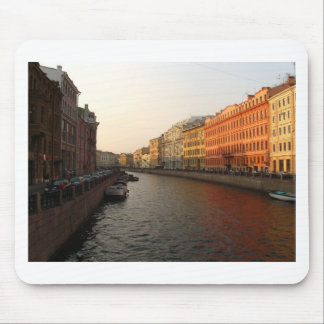 Canal in st Petersburg, Russia Mouse Pads
