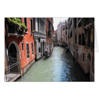 Canal in Venice in Italy Greeting Card