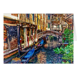 Canal in Venice Italy by Shawna Mac Greeting Card