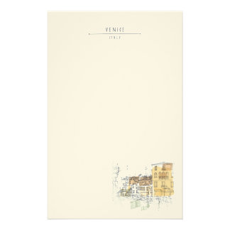 Canal in Venice Italy. Europe. Personalized Stationery