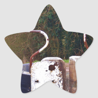 Canal Lock Gate Star Sticker
