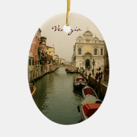 Canal of Venice Christmas Tree Ornament