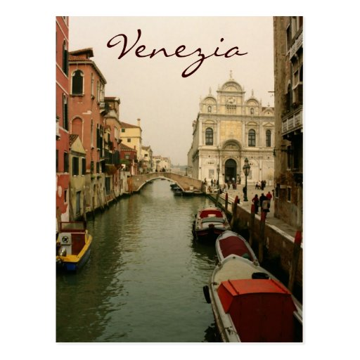 Canal of Venice Postcard