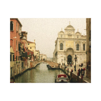 Canal of Venice Wall Art Gallery Wrapped Canvas
