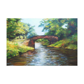 canal painting gallery wrapped canvas