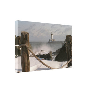 Canal Park Lighthouse Gallery Wrapped Canvas