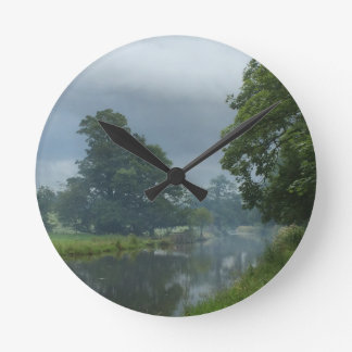Canal Reflections Round Clock