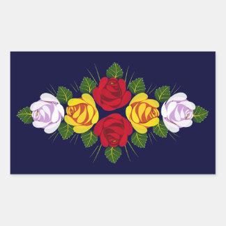 Canal roses rectangular sticker