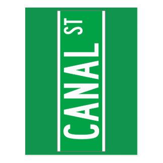 Canal St., New York Street Sign Postcard