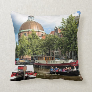 Canal Tour Boat, Sights of Amsterdam Cushion