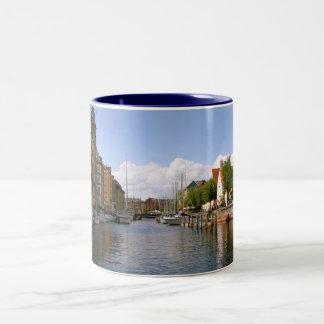 Canal tour, Copenhagen Two-Tone Mug