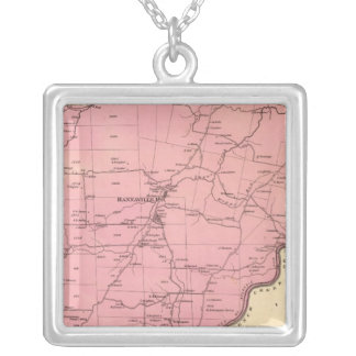 Canal Township Silver Plated Necklace