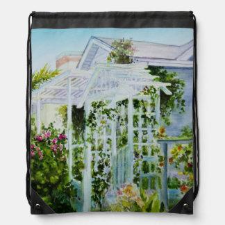 Canal Trellis Drawstring Bag