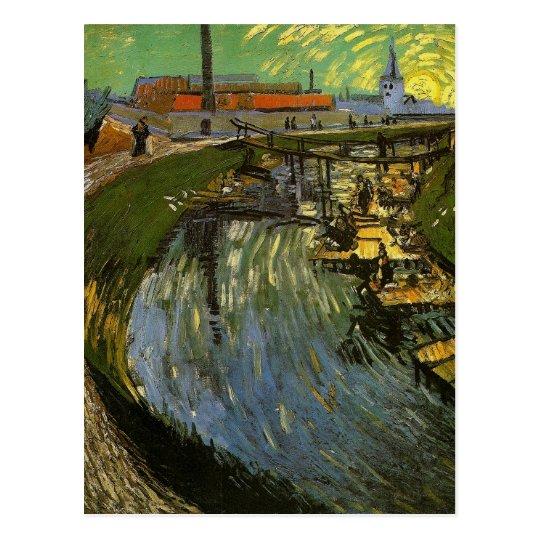 Canal with Washerwomen, Vincent van Gogh Postcard