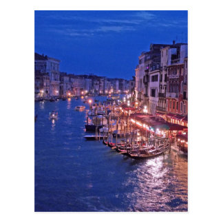 Canale Grand in Venice Italy Postcard
