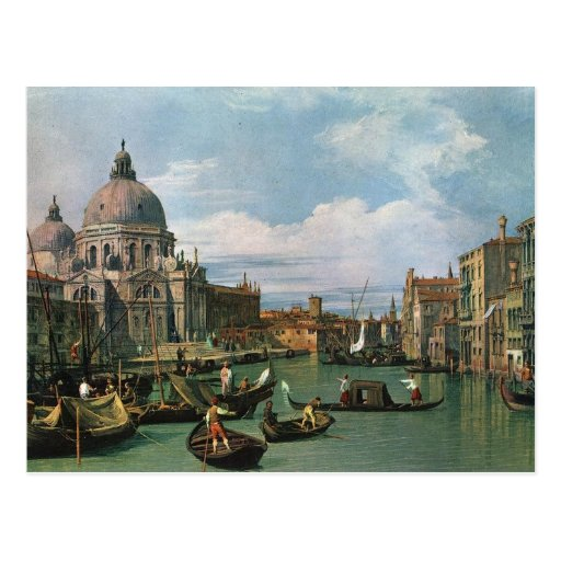 Canaletto,The Grand Canal (1730) Post Card