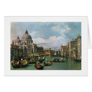 Canaletto,The Grand Canal and Church Card