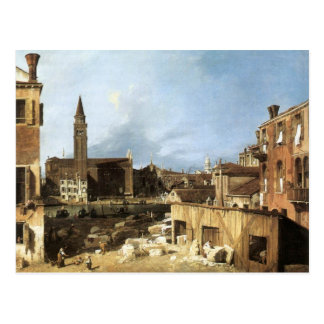 Canaletto,The Stonemason's Yard. Postcard