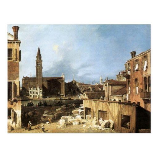 Canaletto,The Stonemason's Yard. Post Card