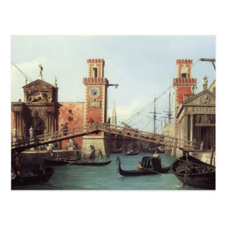 Canaletto- View of the Entrance to the Arsenal Postcard