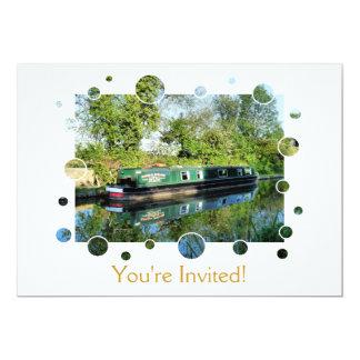 CANALS 13 CM X 18 CM INVITATION CARD
