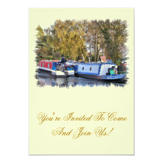 CANALS 13 CM X 18 CM INVITATION CARD