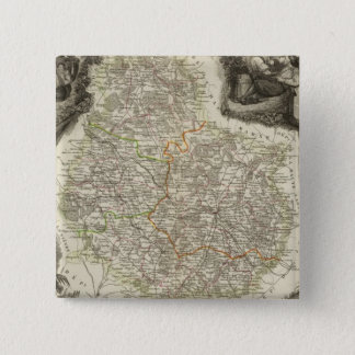 Canals and roads 15 cm square badge