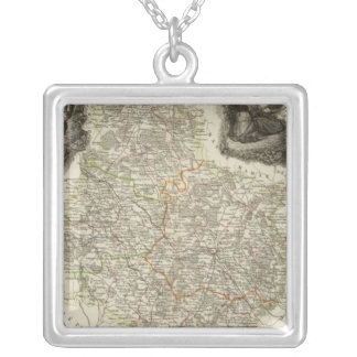 Canals and roads silver plated necklace