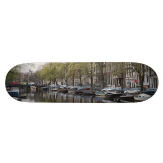 Canals in Amsterdam, Holland 19.7 Cm Skateboard Deck