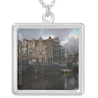 Canals in Amsterdam Silver Plated Necklace