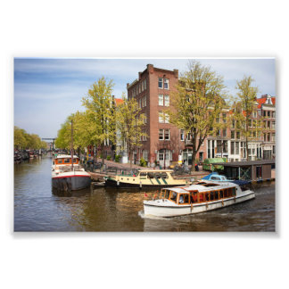 Canals in City of Amsterdam Photograph