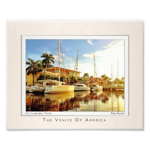 Canals of Las Olas Boulevard Photo Art