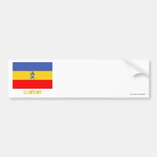 Cañar flag with Name Bumper Sticker